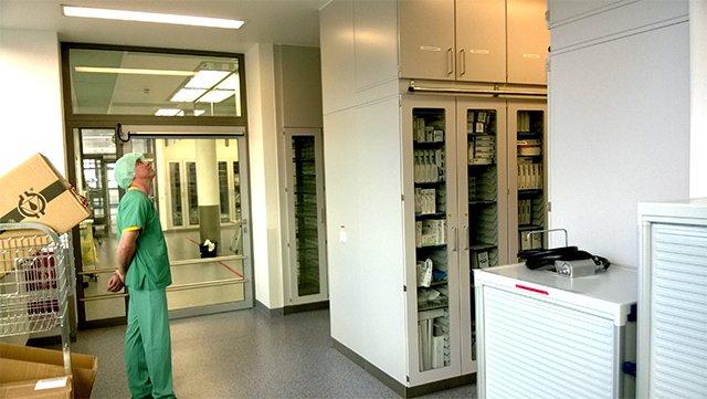 OP Saal | Montage im Bergmannsheil Universitätsklinikum, Bochum