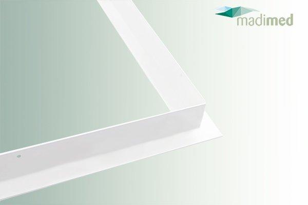 T-Profil Rahmen | Eckansicht für die Aufnahme von Infrarotheizungen